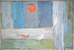 Three Birds Serenading the Moon