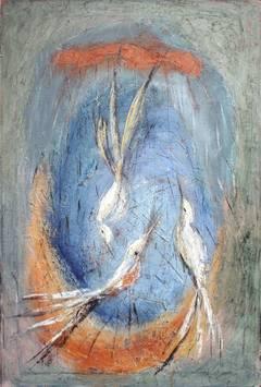 Three Birds Serenading the Moon II