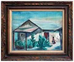 Old House at Capistrano - Landscape Laguna Beach Pioneer Artist