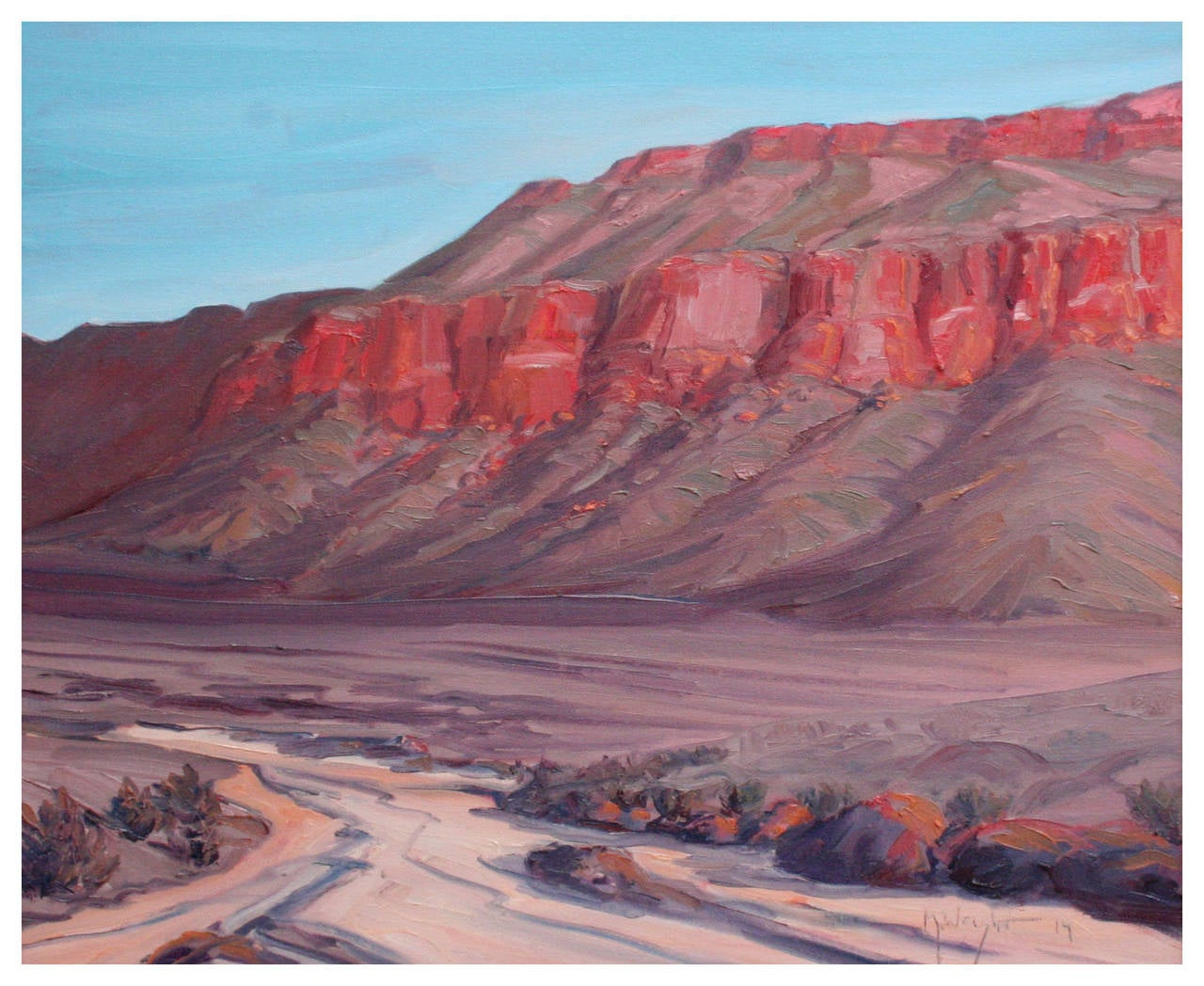 Mike Wright Desert Bluffs Painting For Sale At 1stdibs