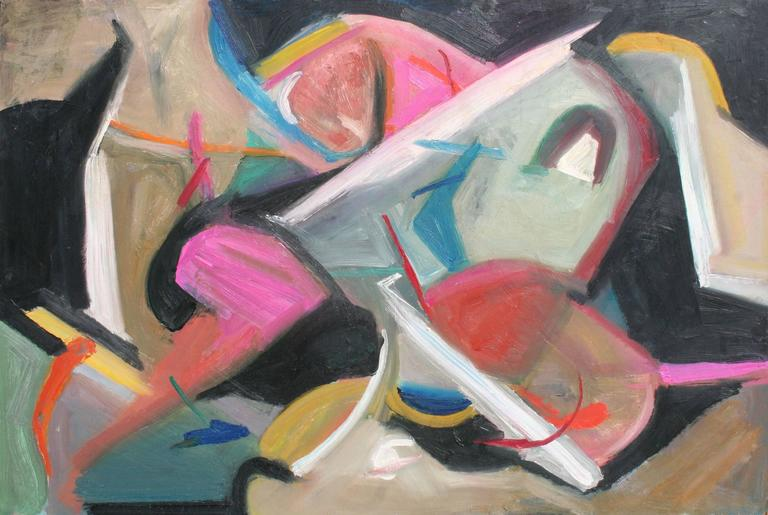 """Leslie Luverne Anderson Abstract Painting - """"After Dark"""" Abstract #7 by Les Anderson"""
