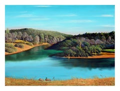 Northern California Duck Lake, Realist Landscape