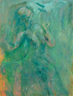 Teal Figurative Abstract