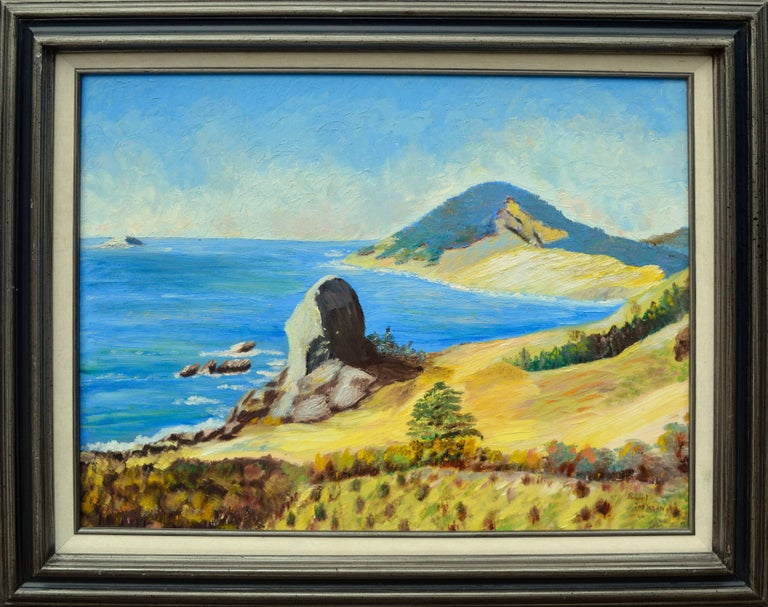 Big Sur, California by Ellen Pearl Johnson - Painting by Pearl Johnson