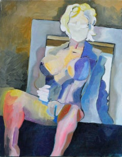 Modernist Nude in the Blue Coat