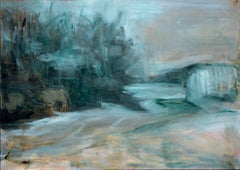 Abstracted Teal Landscape