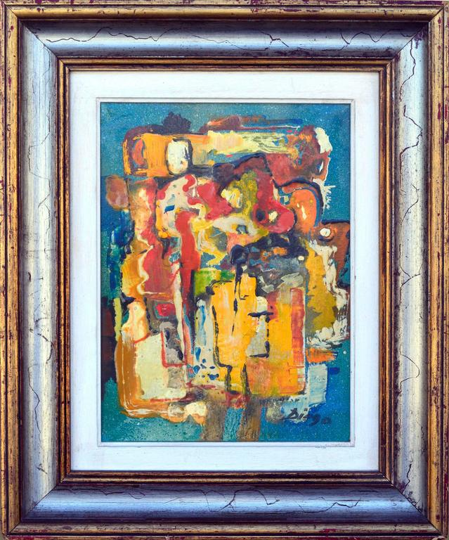Anthony Diego Voci Abstract Painting - Abstract Composition IX