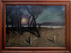 Pacific Grove Moonlight Attributed to Ferdinand Burgdorff