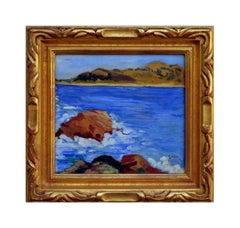 Carmel Point Lobos and Monastery Beach Seascape, 1925