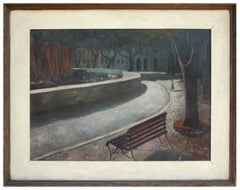 After Midnight in Washington Square, after Edward Hopper