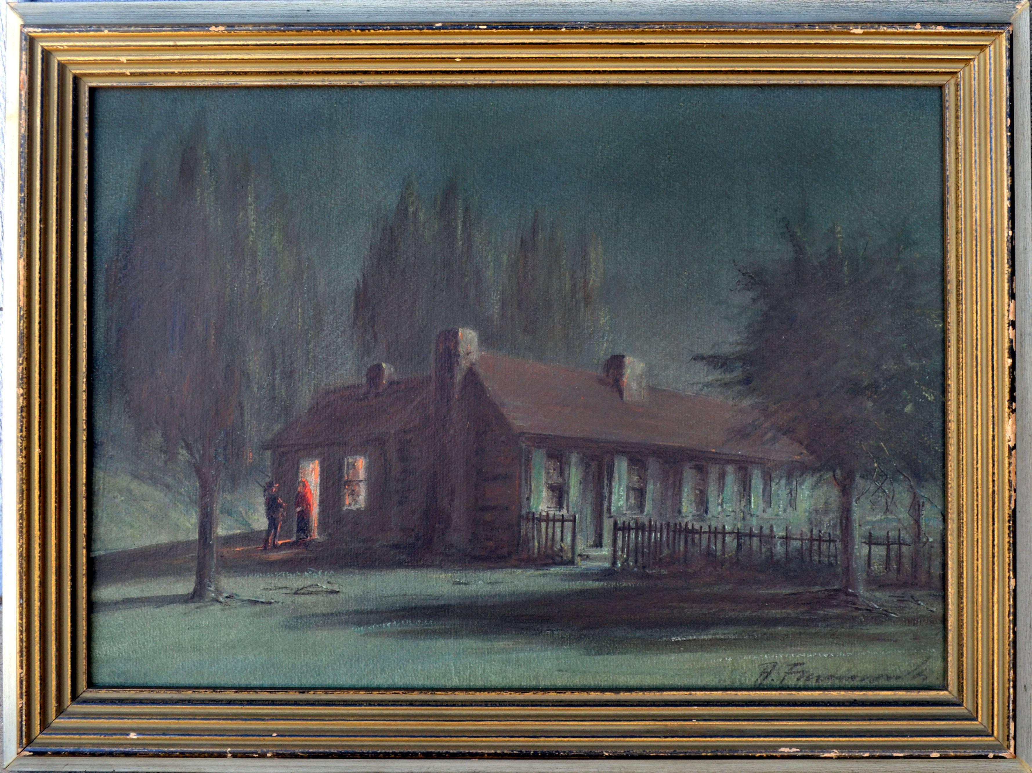 Late 19th Century Nocturnal -- Night Caller, California Adobe