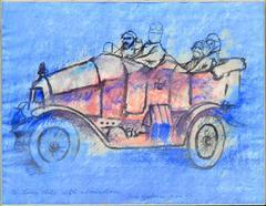 Dilbert in a Touring Car by Robert Osborn