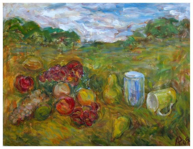 Alexandr Rapoport Still-Life Painting - Vineyard  in Spring