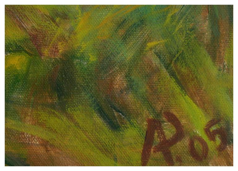 Vineyard  in Spring - Impressionist Painting by Alexandr Rapoport