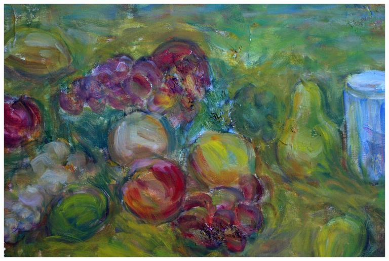 Vineyard  in Spring - Painting by Alexandr Rapoport