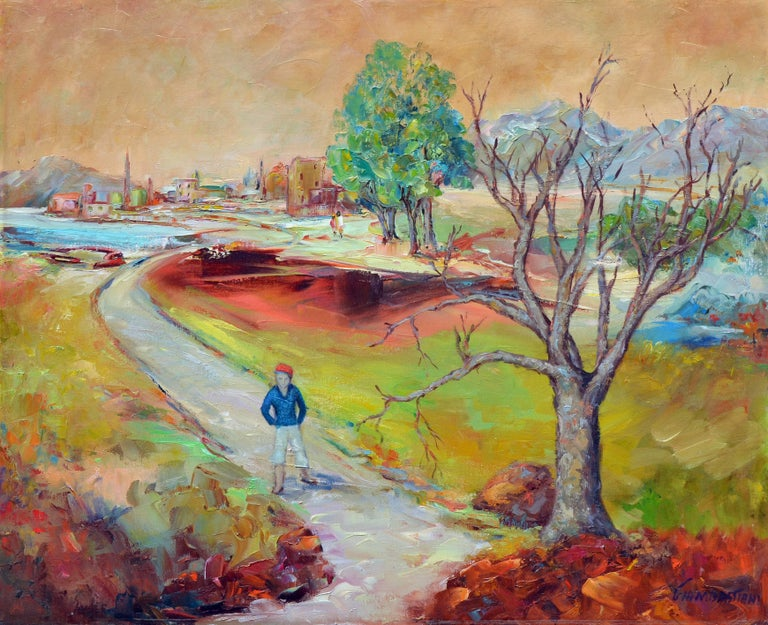Lida Giambastiani Figurative Painting - Young Boy in the City