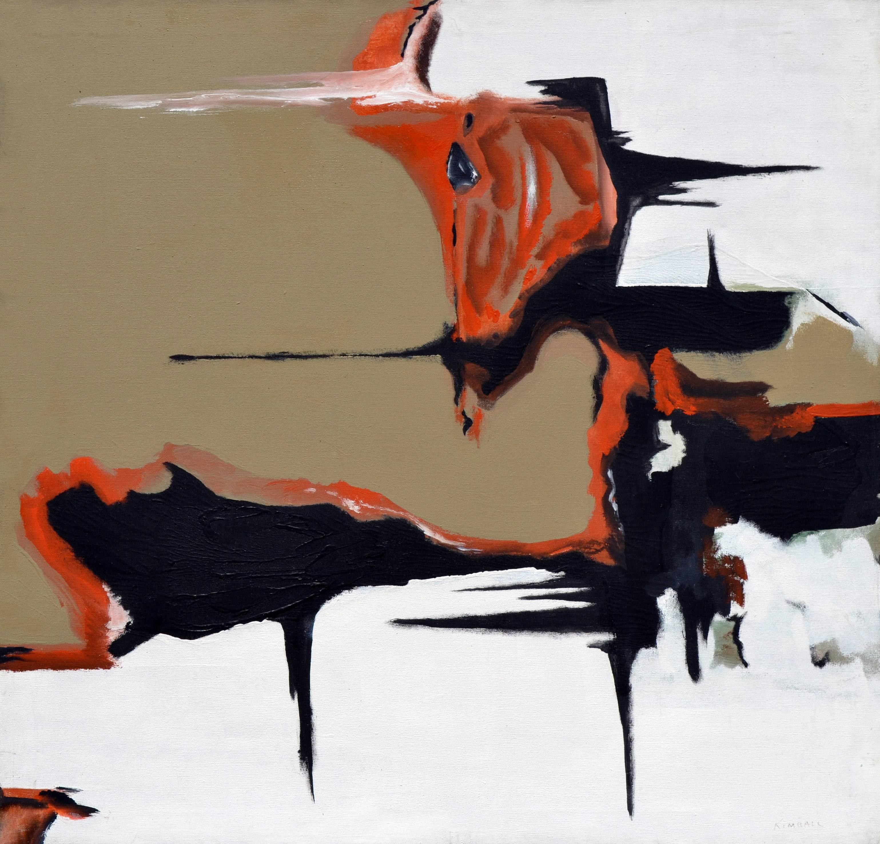 Black, Brown and Orange Abstract
