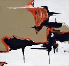 Kimball - Black, Brown and Orange Abstract