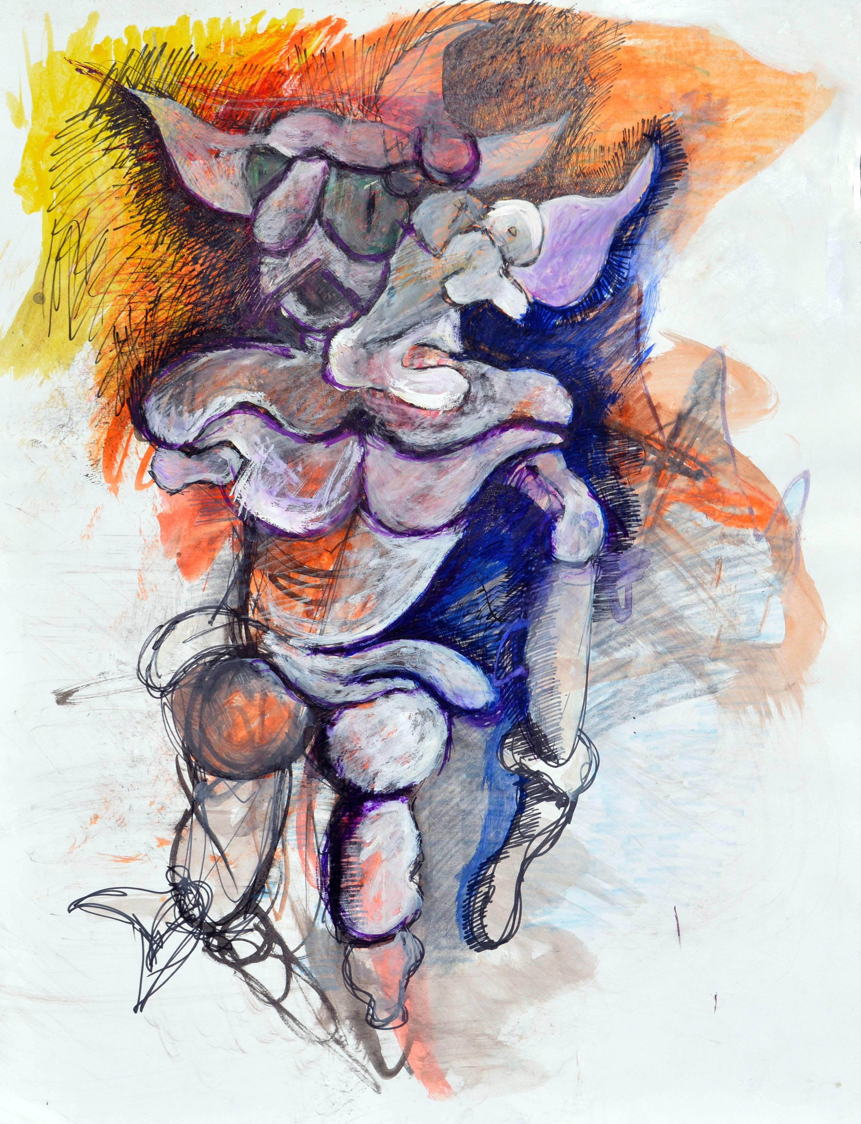 Two Faced Figurative Abstract