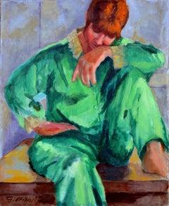 Green Silk Pajamas
