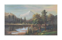 Early 20th Century Mount Hood From Clear Lake