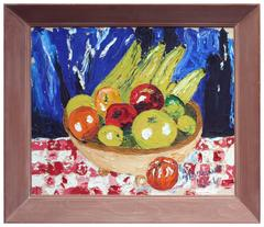 Still Life Basket of Fruit  - T. Brown