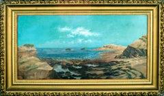 Northern California Tidal Pools - Late 19th Century Seascape