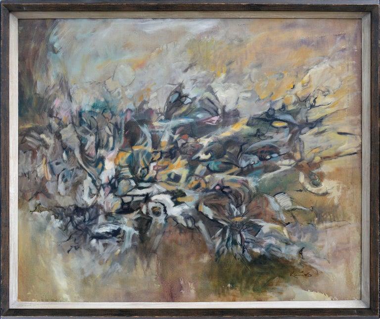 Emergence #3 Gotai Movement Kuniko Nakamura 1964 - Painting by Kuniko Nakamura