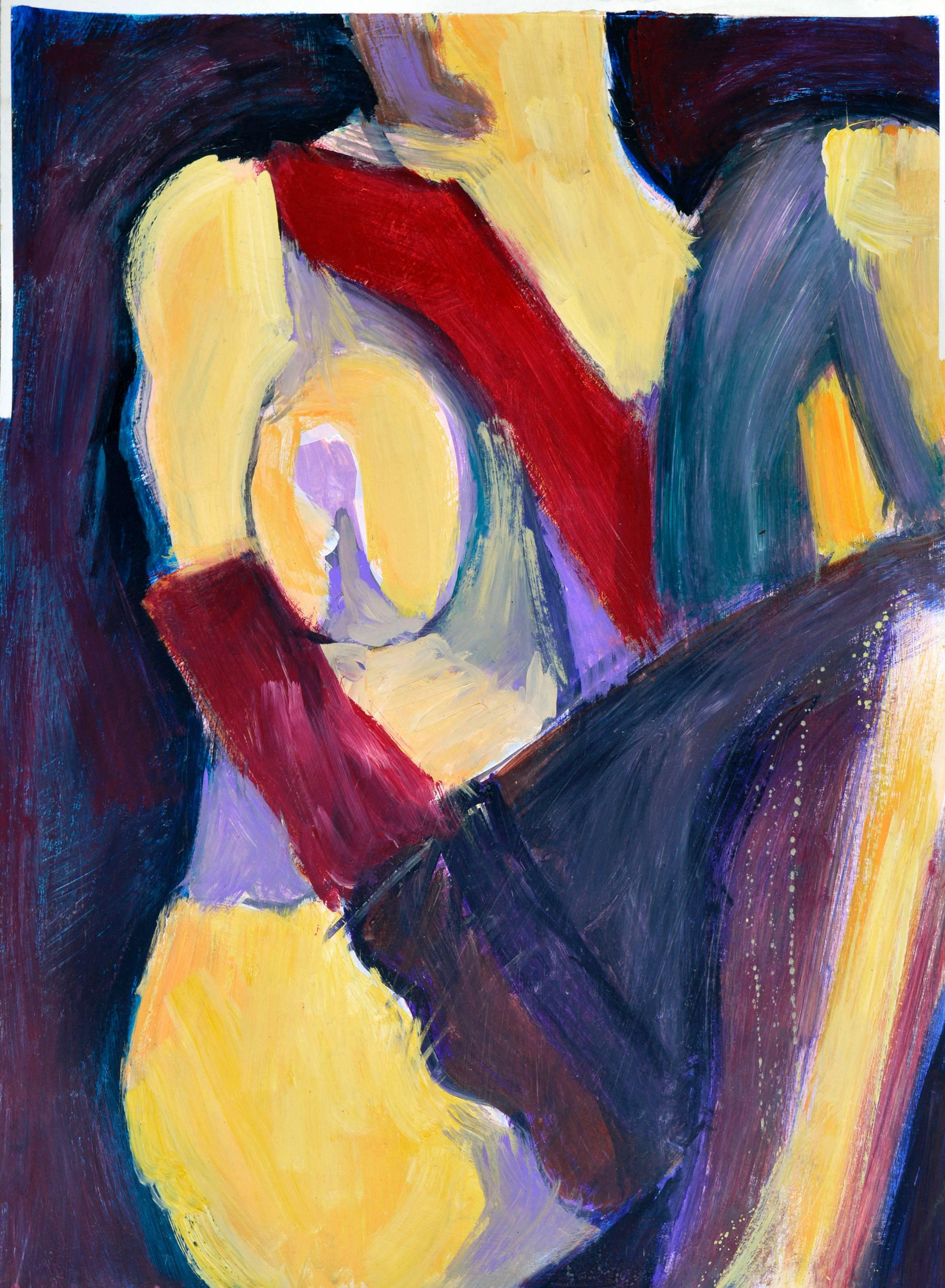Yellow Figure in Black Stockings