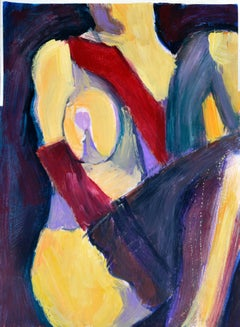 Figure in Blue and Red