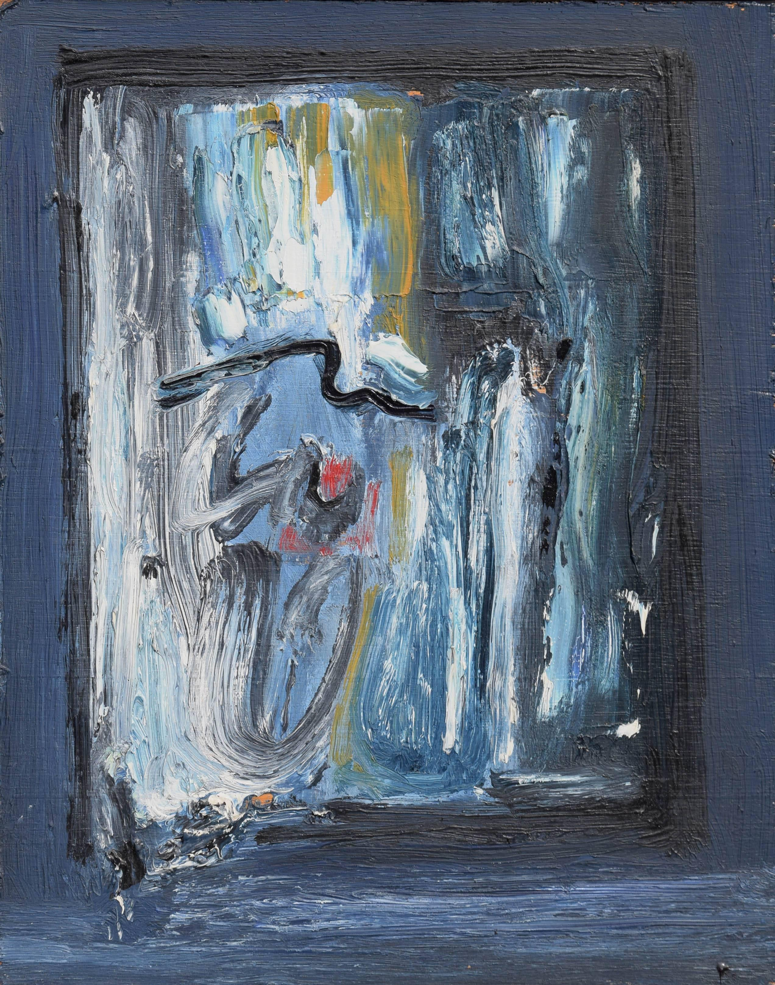 """""""To a Night"""" - Mid Century Abstract Expressionism"""