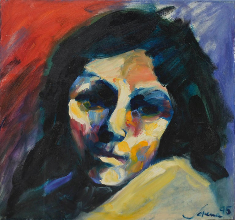 Sarena Rosenfeld Portrait Painting - Fauvist Portrait of Woman