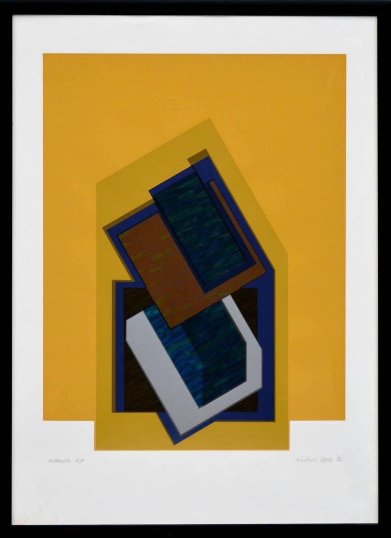 Michael Hale Abstract Print - Moderato - Abstract Geometric Screen Print
