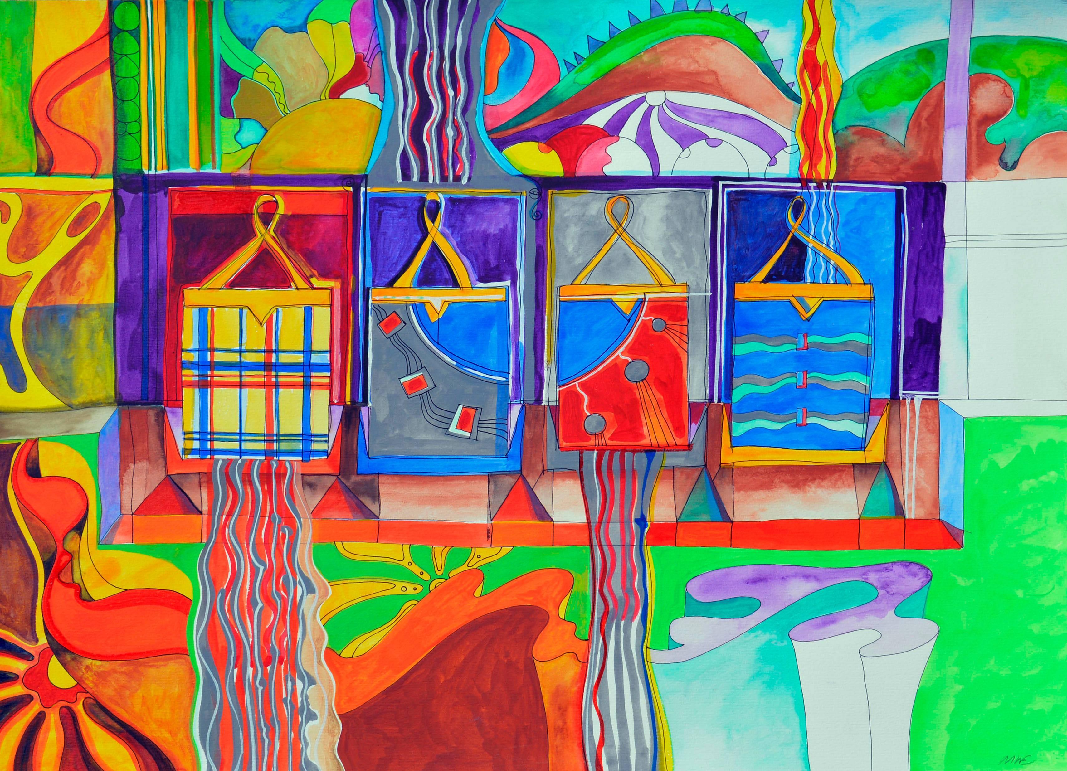 Psychedelic Handbags - Surreal Visonary Landscape