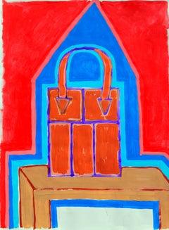 Red Handbag Abstract