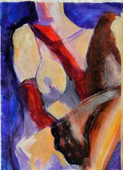 Crimson Gloves and Black Stockings Figurative