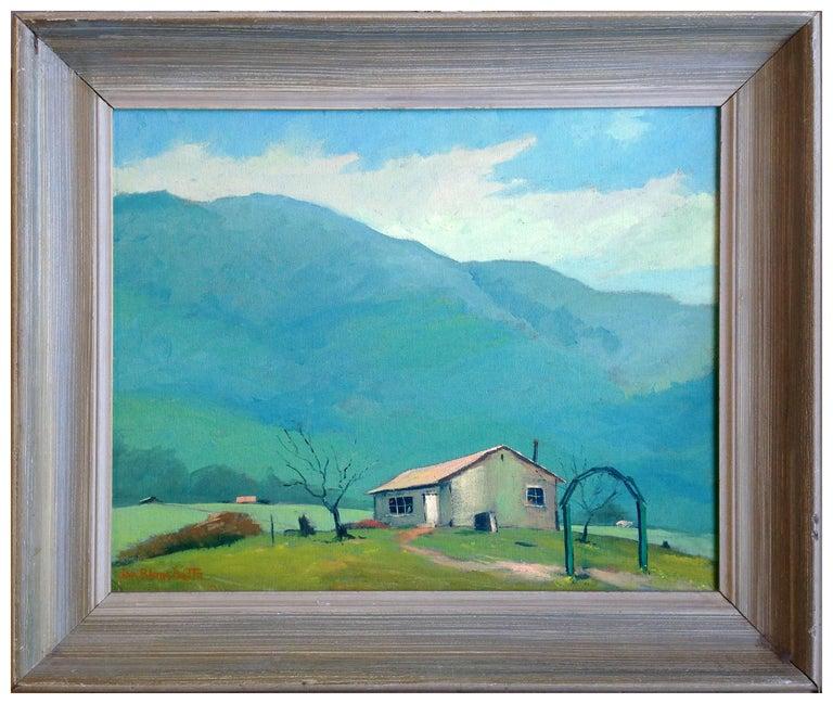 Jon Blanchette Landscape Painting - Mid Century California Landscape -- Mendocino Hills