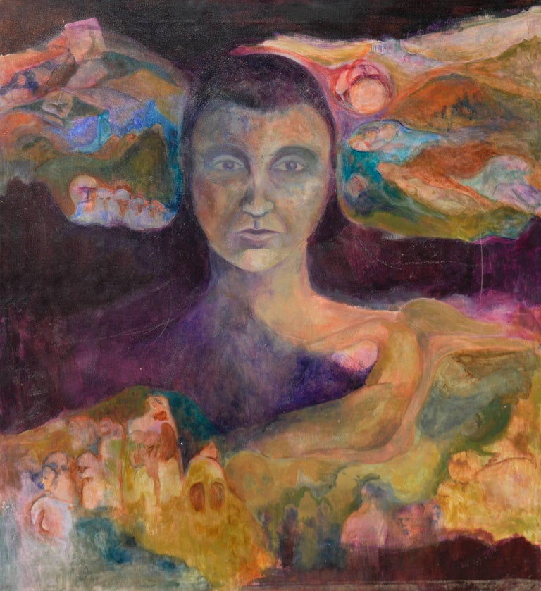 Unknown Figurative Painting - Woman of the Earth by Renard