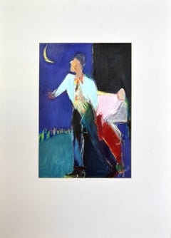 Figurative Man With Moon