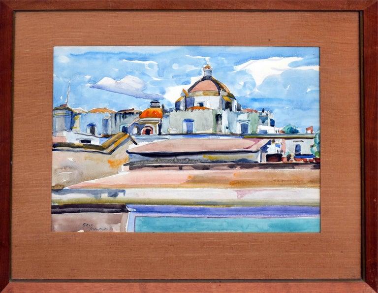 Eugenia Frances Baker McComas Landscape Painting - Mexico Cathedral by Eugenia Francis Baker McComas