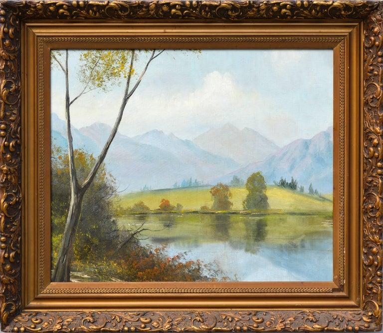 Unknown Landscape Painting - Midcentury Eastern Sierra Mountains Landscape