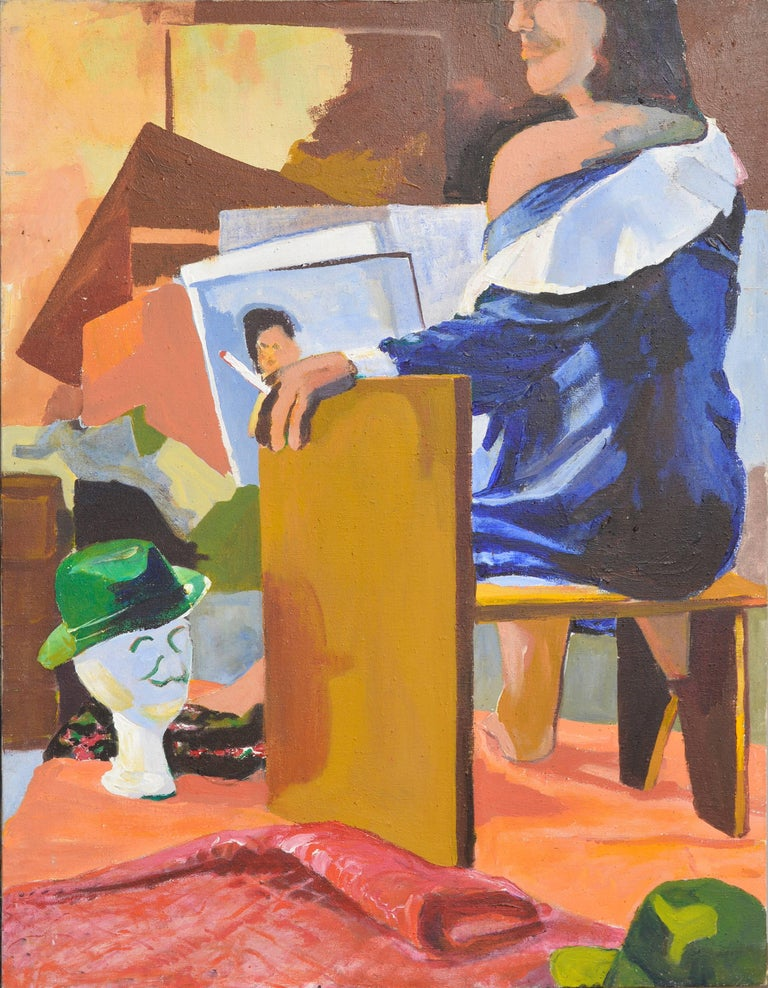 Patricia Gren Hayes Interior Painting - Bay Area Figurative Movement