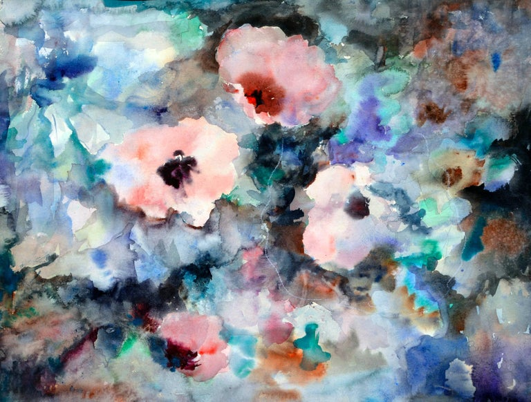 Mary Burke Still-Life Painting - Florida Flowers Abstract