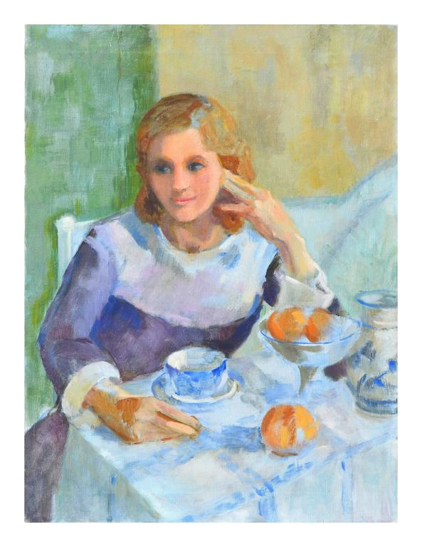 Patricia Gillfillan Figurative Painting - Tea Time