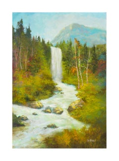 Sierra Mountains Waterfall by Katie DeRolf