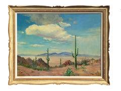 Camelback Mountain and Desert Saguaro