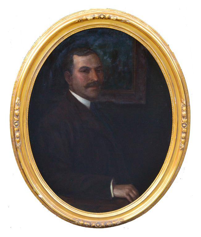 Joseph David Greenbaum Portrait Painting - Fine Gentleman