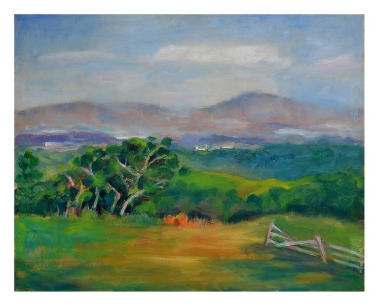 Jack Lynn Landscape Painting - California Coastal Mountains Landscape