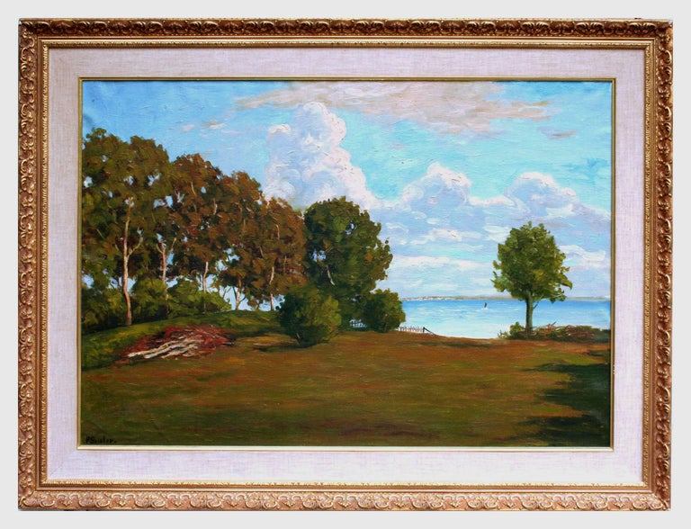 Paul Geisler Landscape Painting - Monterey Bay Vista from Opal Cliffs