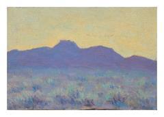Mid Century Purple Desert Mountains